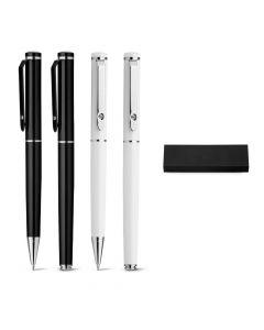 CALIOPE SET - Schreibset mit Tintenroller und Kugelschreiber aus Metall